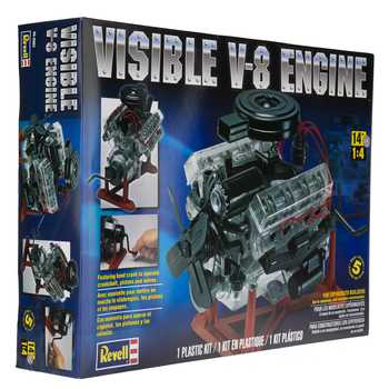 Visible V-8 Engine Model Kit